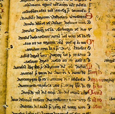 History Department image of medieval manuscript