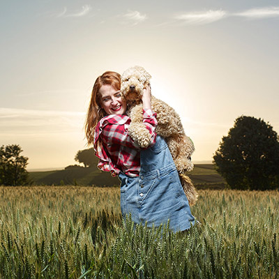 Image of a girl and her dog