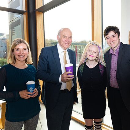 Vince Cable visit banner image