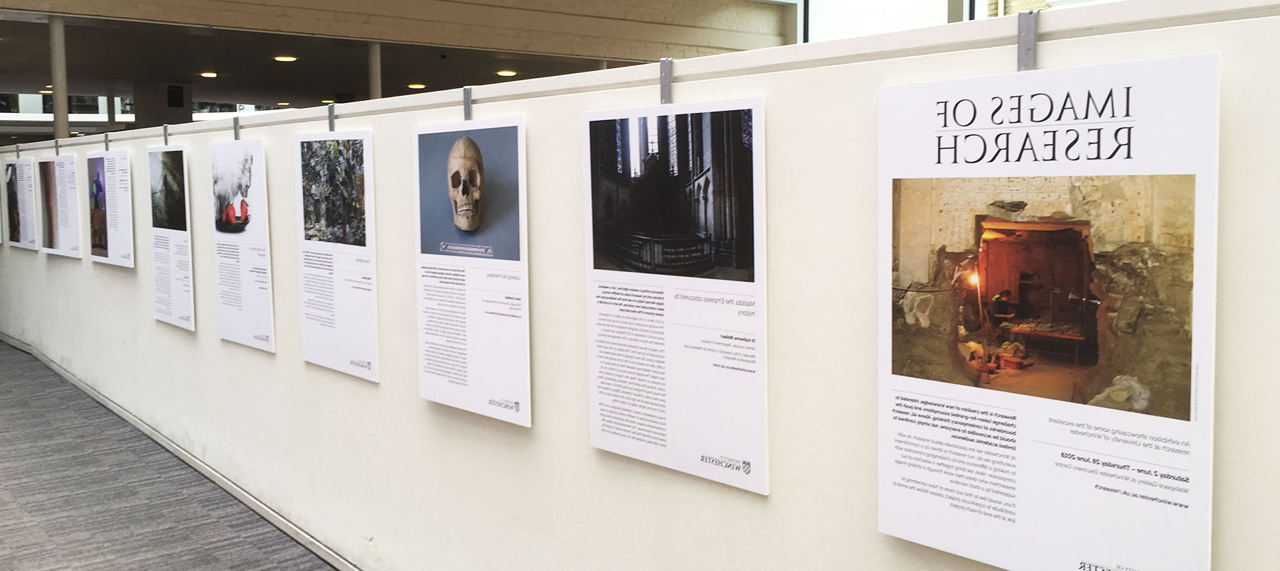 Showcasing research at Winchester: Images of research exhibition 2018 on display in winchester discovery Centre