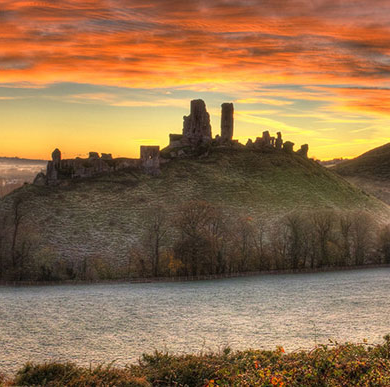 Broadly Engaging with Tranquillity research project image of Corfe Castle, Dorset AONB